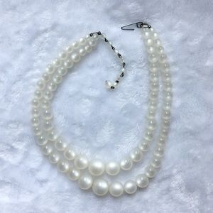 🌚 VTG 50s Moonglow Double Strand Necklace